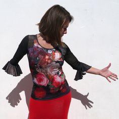 42,95€ Top Raices Estampado Fabula | Baile flamenco
