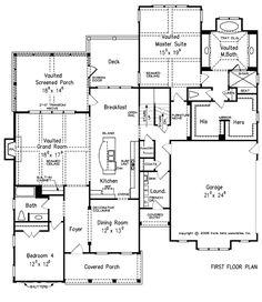 Larger 2 story...big rooms and loft!!! Azalea Farm - Home Plans and House Plans by Frank Betz Associates