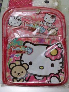 Detail: Back pack Design Hello Kitty Ukuran 12 (S) : IDR.72rb/pcs Ukuran 16 (L) : IDR.88rb/pcs Belum termasuk ongkir