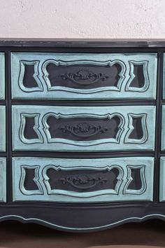 French Provincial Hand painted Dresser ASCP by ObjectsbyEchoes