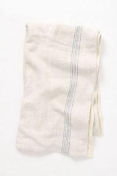 Double Duty Beach Towel--woven linen cotton blend on one side, terry cloth on the other.