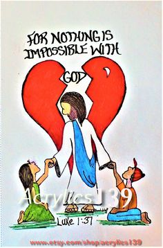 """For nothing is impossible with God. "" Luke (Scripture doodle of encouragement) Favorite Bible Verses, Bible Verses Quotes, Bible Scriptures, Faith Quotes, Scripture Doodle, Scripture Art, Bible Art, You Are My Superhero, Luke 1"