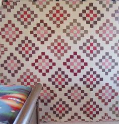 Checkerboard Quilt Circa 1880's, size 83x84. All hand quilted at 7 spi. This quilt is also hand pieced. Wonderful early fabrics. Separate binding is hand whipped on. Generous size. NE USA