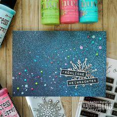 Karten-Kunst » Konfetti-Weihnachtskarte mit Distress Oxide Sprays