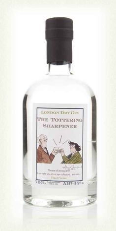 The Tottering Sharpener Gin - £33.50 a bottle - looks fun!