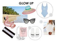 """Glow up - Beachwear 1"" by millawonderland on Polyvore featuring Calvin Klein, Schutz, Tom Ford, Missoni and Chance"