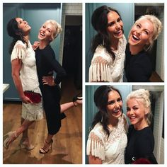 Nina Dobrev and Julianne Hough - ninadobrev: … After Glams.