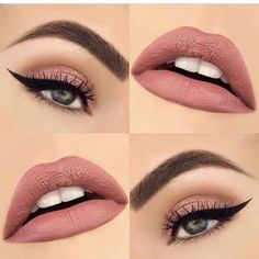 Spring Makeup Ideas🌷 - Make-up Makeup Inspo, Makeup Inspiration, Beauty Makeup, Makeup Ideas, Makeup Kit, Brown Eyeshadow, Makeup For Brown Eyes, Eye Makeup Glitter, Glitter Lipstick