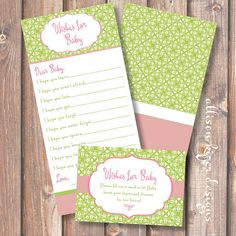 Pink and Green Garden Party Printable by AllisonKizerDesigns, $10.00