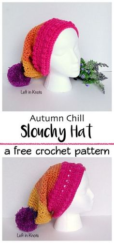 This modern and free crochet slouchy hat pattern uses less than one skein of your favorite Caron Cakes yarn and is a breeze to work up! The Autumn Chill collection has many coordinating pieces, so make yourself a whole set for when the cold weather hits.