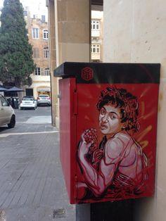 by C215 - Tribute to Caravaggio - Valetta, Malta - Oct 2014