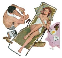 Kurt Ard - Illustration for the story Willing Victim by Robert Carson. From The Saturday Evening Post – Pin Up Girls Pin Up Vintage, Art Vintage, Retro Art, Comics Vintage, Vintage Cartoon, Gil Elvgren, Magazine Illustration, Illustration Art, Retro Kunst