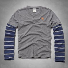 layered long-sleeve tee