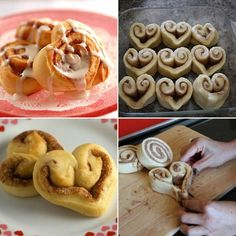 Valentine's Heart-Shaped Cinnamon Rolls