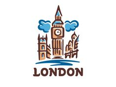 London logo template designed by dizamax. Connect with them on Dribbble; Instagram Logo, London Instagram, Mini Drawings, Easy Drawings, London Logo, Paris Logo, Planner Doodles, Image Citation, City Icon