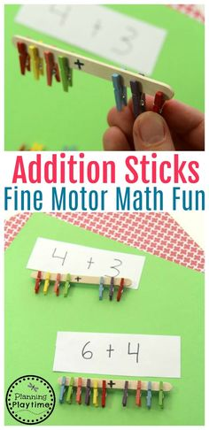 Fun Fine Motor Addition Activity for Kids.