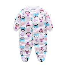 8a252d2d40 Awesome Unisex Baby Clothes Brand Animal Cartoon Baby Rompers Long Sleeves  Fleece Infant Coveralls Newborn Boy