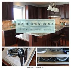Top Organizing Bloggers Organized Kitchen Home Tour - Kitchen Drawers via Clean Mama
