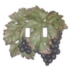 Kitchen, Dinning, Wine Cellar Purple Grapes Double Switch Plate Cover