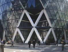 The gherkin - 30 st. mary axe tower showing diagrid made from steel