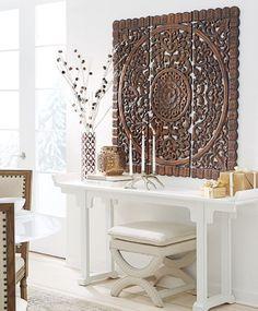 déco en bois de mur de style marocain