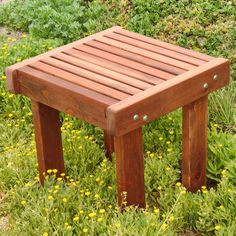 Best Redwood Side Table #sidetable #patiofurniture #patiotable Glass Side Tables, Wooden Side Table, Solid Wood Dining Table, Wooden Chairs, Wooden Furniture, Furniture Design, Outdoor Side Table, Patio Table, A Table
