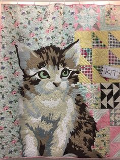 """""""Meow or Never""""  cat quilt by Erin Michael.  2016 Spring Quilt Market.  Photo by lady K Quilts."""
