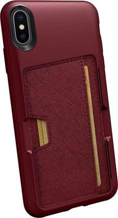 Silk iPhone Xs Max Wallet Case - Wallet Slayer Vol. 2 [Slim Protective Kickstand Q Card Case Grip Cover] - Red Rover Red Rover Iphone Cases Bling, Iphone Cases Cute, Iphone Leather Case, Leather Wallet, Best Iphone, Iphone 5s, Cute Love Heart, Tumblr Iphone, Drawing Wallpaper