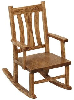Amish Cambridge Child's Rocker Sweet seat for little ones. Solid wood child's rocker handcrafted in Amish country. Choose wood and stain for this beautiful chair. #child'srocker #kidfurniture