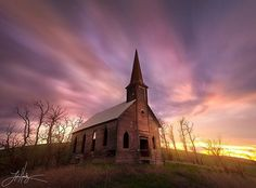 Photograph Tyrannical Time by Lijah Hanley on Abandoned church. Abandoned Churches, Old Churches, Abandoned Mansions, Abandoned Places, Old Country Churches, Country Roads, Church Pictures, Take Me To Church, Templer