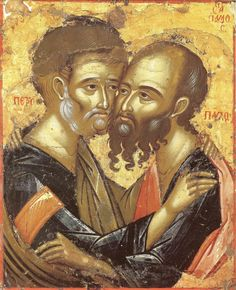 Sunday Reflection with Fr Robin Gibbons: Feast of SS Peter and Paul - Independent Catholic News Orthodox Icons, Byzantine Art, Saint Paul, Biblical Art, Art, St Peter And Paul, Art Icon, Sacred Art