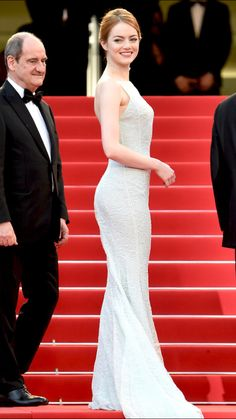 Emma Stone (in Dior gown)