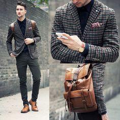 L.B.M. 1911 Blazer, Asos Pants, Aldo Shoes, Casio Watch, Coach Backpack