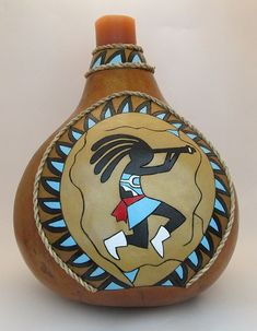 New Gourds by Geri Wood Gittings Native American Pottery, Native American Art, Navajo Art, Decorative Gourds, Pottery Workshop, Pottery Painting Designs, Painted Gourds, Pattern Art, Art Patterns