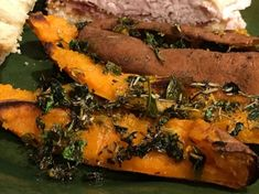 Herb-Roasted Sweet Potato Skins Recipe - Fabulous and easy. Plus you get cooked sweet potato pulp for another recipe. Healthy Superbowl Snacks, Game Day Snacks, Skins Recipe, Sweet Potato Skins, Some Recipe, Recipe Box, Thing 1, Roasted Sweet Potatoes, Pot Roast