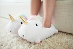 Buy Unicorn Light Up Slippers at Mighty Ape NZ. Unicorn Light Up Slippers Light up your life, or at least your route to the bathroom, with our new and very cute Light Up Unicorn Slippers! Things To Buy, Girly Things, Stuff To Buy, Cute Things, Light Up Unicorn Slippers, Cute Shoes, Me Too Shoes, Unicorn Party, Creations