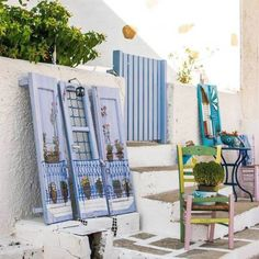 """Paintings in the street"" in  iraklia island part of the small Cyclades ! Happiness ..."
