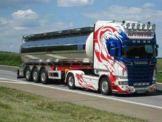 Scania truck, tank