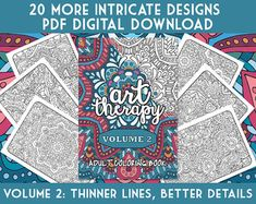 Adult Coloring Book Ultimate Art Therapy By BySarahRenaeClark