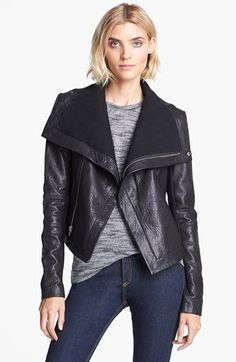 Veda 'Max Classic' Leather Jacket - I own this jacket in navy blue. If i'm going out to dinner/drinks, its my go to jacket