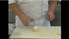 http://www.thechefsacademy.com  Chef T. takes you through the practical cuts with potatoes. Below are the time codes in which you can find each of the practical cuts.  Batonette - 1:15  Julienne - 3:43  Small dice - 5:44  Brunoise - 6:33  Fine julienne - 7:21  Fine brunoise - 10:01