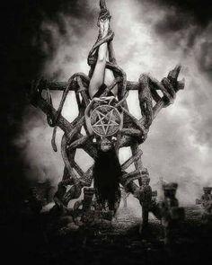 Satanic Tattoos, Satanic Art, Arte Horror, Horror Art, Dark Fantasy Art, Dark Art, Dark Side, Evil Art, Demon Art