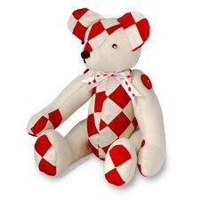"""Harley Patchwork Teddy Bear 14"""" Paper Sewing Pattern"""