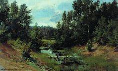 "Forest Stream"", 1870 by Ivan Ivanovich Shishkin (1832-1898, Russia)"