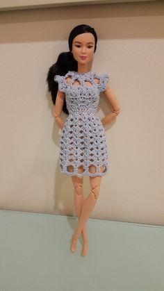 Barbie Cut Out Shell Stitch Dress - Free pattern