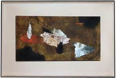 Paul Horiuchi UNTITLED, 1959 Collaged paper and ink, signed and dated, lower right front 12.25 x 23.75 inches, 31.75 x 20.5 inches framed, Currently for sale at http://seattleartresource.com