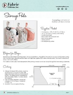Sewing Basics, Sewing Hacks, Sewing Crafts, Diy Bags Patterns, Sewing Patterns, Diy Storage Pods, Fabric Boxes, Fabric Basket, Sewing Projects For Kids