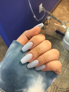 In seek out some nail designs and ideas for your nails? Here is our list of 29 must-try coffin acrylic nails for stylish women. Fall Acrylic Nails, Acrylic Nail Designs, Coffin Shape Nails Acrylics, Acrylic Nails Coffin Grey, Fake Nail Designs, Light Pink Acrylic Nails, Clear Glitter Nails, Short Square Acrylic Nails, Light Blue Nails