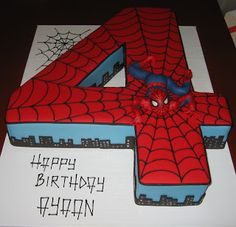 4 Spiderman Cake He Loved It