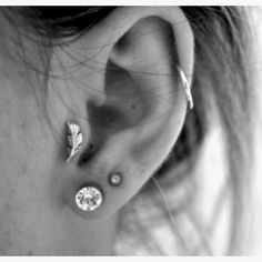 the exact piercings I want! already have the two lobes so just to get the tragus and helix!